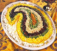 Persian Rice -- with saffron, pistachios, almonds, and zereshk -- one of my favorites