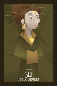 FACES OF KAAMELOTT SERIE - Dame Seli