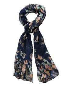 This Navy Butterfly Scarf is perfect! #zulilyfinds