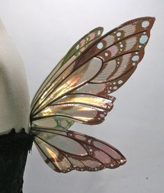 Painted Small Lizette Fairy Wings, Monarch Butterfly.     $53.00, via Etsy. You choose the colors!