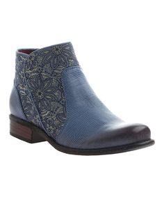 Another great find on #zulily! Blue Dare Devil Leather Bootie by OTBT #zulilyfinds