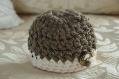 Newborn chunky baby hat crochet infant hat by AnniesChicBowtique, $23.00