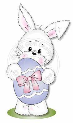 Easter Bunny - Free Digi Stamp