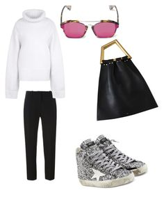 Untitled #166 by whatscooljay on Polyvore featuring polyvore, fashion, style, STELLA McCARTNEY, Victoria Beckham, Golden Goose, Christian Dior and clothing