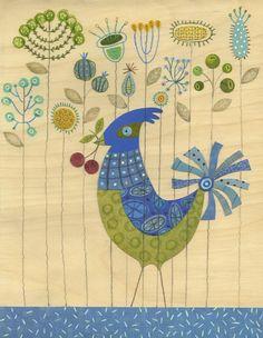 Penelope the Bird 8.5 x 11 Print by lindasolovic on Etsy