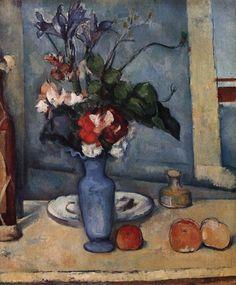 Paul CÉZANNE - The Blue Vase - 1889-90 - Oil on canvas, 61 x 50 cm, Musée d'Orsay, Paris