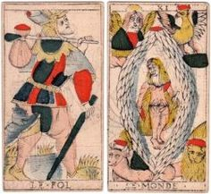 Marseille Tarot cards by Charles Cheminade of Grenoble, France, early 18th century.