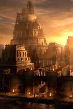 Considered the cradle of civilization, Mesopotamia was where the. Fantasy City, Fantasy Places, Ancient Egypt Civilization, Tower Of Babel, Prince Of Persia, Matte Painting, Environment Concept Art, Hindu Art, Fantasy Landscape