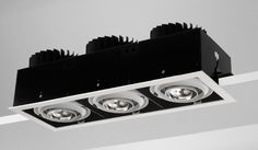 Quartet QSG370 - Recessed square Xicato LED gimbal | Light Fittings from High Technology Lighting