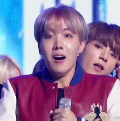 "chimchams: ""hoseok's reaction to winning #1 on music bank! """