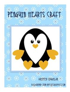 Students can cut and glue these shapes to create an adorable penguin craft! Kindergarten Crafts, Preschool Crafts, Fun Crafts, Winter Crafts For Kids, Winter Fun, Winter Theme, 2nd Grade Crafts, Penguin Craft, Shape Crafts