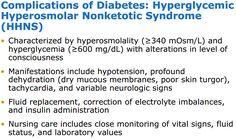 Complications of Diabetes - Hyperglycemic Hyperosmolar Nonketotic Syndrome (HHNS)