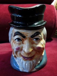 "4"" Ceramic Toby Mug Gent's Head - Made in Japan"