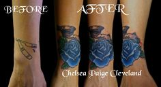 Want a tattoo or piercing in Vegas? Call or text me at 702-637-6726 #TattooArtist #Tattooist #TattooShop #TattooParlor #TattooStudio #LasVegas  #CoverUp #CoverUpTattoo #Rose #RoseTattoo #BlueRose #BlueRoseTattoo #Banner #BannerTattoo