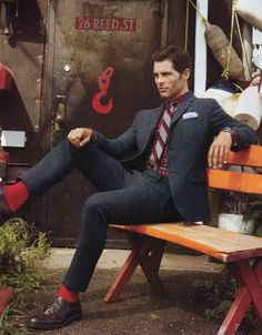 James Marsden for GQ Tweed suits are in fashion and are finally being made slim fit.