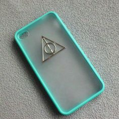 Shapotkina Punk Handcraft Mobile Phone Protective Skin for Iphone 5 Blue Case with Harry Potter Decoration on Wanelo