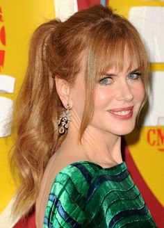 Ponytail hairstyle in this page, Nicole Kidman.