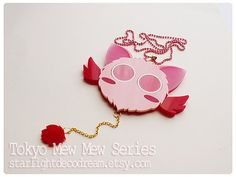 MADE to ORDER MASHA Tokyo Mew Mew Inspired Acrylic Necklace for Mahou Kei, Magical Girl Fashion - Starlight Deco Dream