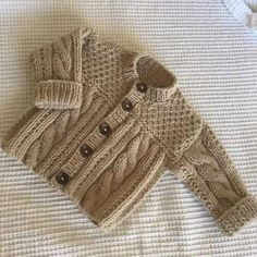 Knitting patterns boys sweaters crochet cardigan 44 ideas for 2020 Baby Knitting Patterns, Baby Cardigan Knitting Pattern Free, Knitted Baby Cardigan, Knit Baby Sweaters, Knitted Coat, Boys Sweaters, Knitting For Kids, Knitting Designs, Baby Patterns