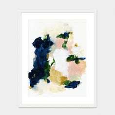 Color Series No. 2 by Parima Studio // abstract blue, pink, gold painting art