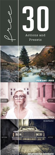 30 Free Actions and Presets from Contrastly Contrastly has packaged together 30 free actions and presets from their premium packages into one amazing sample download exclusively for their email subscribers. This package includes 25 of their premium Lightroom presets and 5 Photoshop actions to give you a preview of the best of what Contrastly has to offer. …