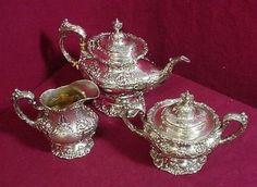 Francis I by Reed Barton Sterling Silver Tea Set Tea Pot Creamer Sugar 3pc | eBay