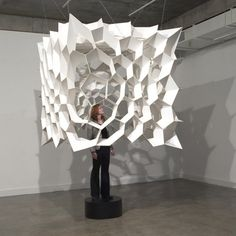 DESIGN: Geodesic Paper Installation Art « (C)ODE-(C)OLLECTIVE: Digital Learning + Script + Code Collective