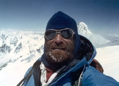 Nazir Sabir on K2, the second-highest mountain in the world, in northern Pakistans Karakoram range. He's also the first Pakistani to have climbed the Mount Everest!