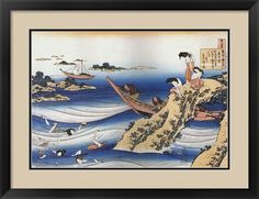 Traditional Japanese art Title: Female Divers Dive for Abalone Artist: Katsushika Hokusai Type: Fine-Art Print Paper Size: x Traditional Japanese Art, Great Wave Off Kanagawa, Katsushika Hokusai, Woodblock Print, Figurative Art, Find Art, Framed Artwork, Giclee Print, Fine Art Prints