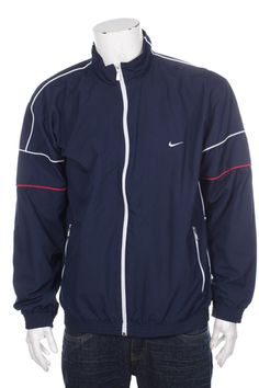 d88674778a12 Vintage 90s Nike Premier Quilted Jacket Big Logo Spell Out Black/White/Red  XL