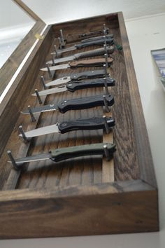 Knife Display Case by reclaimerdesign on Etsy