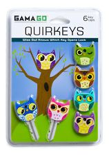 Gama-Go Quirkeys Silicone Owl / Bird Key Caps / Covers / Toppers - 6pk