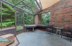 Spectacular Midcentury Modern, Designed by Harold Turner, Lists in Bloomfield Hills Organic Architecture, Interior Architecture, Interior Design, Modern Greenhouses, Bloomfield Hills, Midcentury Modern, Natural Materials, Mid Century, House Built