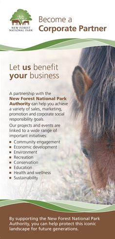 Corporate Partners flyer (front) designed for the New Forest National Park Authority