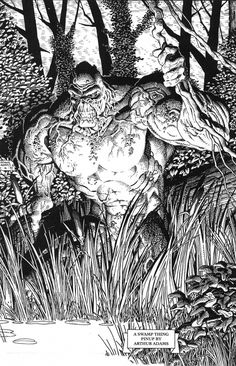 "alexhchung: ""Swamp Thing by Arthur Adams """