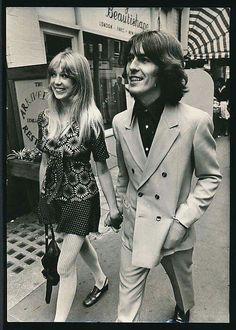 Patty Boyd and George Harrison 1968