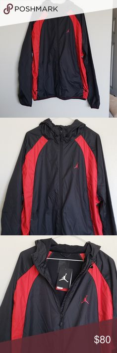 688b2e77dde Shop Men's Jordan Red Black size XL Windbreakers at a discounted price at  Poshmark.