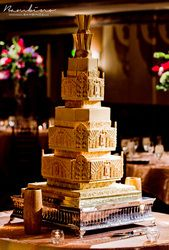 Art Deco Wedding Cake, A Cake inspired by the Grandiose Architecture of the Hall of Mirrors, created by Sugar Realm, Fine Bakery & Cake Design of Cincinnati