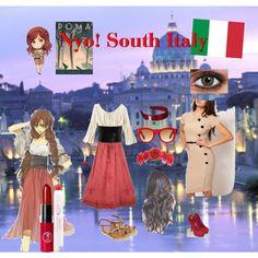 Hetalia: Nyo! South Italy/ Romano Inspired by sweetly-evil on Polyvore