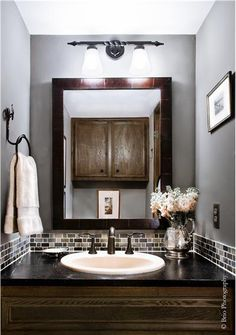 Romantic Contemporary Bathroom by Allison Jaffe