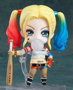 Pre-Order Release Date: March 2017 The crazed supervillain in Nendoroid size! From the movie 'Suicide Squad' comes a Nendoroid of the cute, crazed supervillain - Harley Quinn! The Nendoroid has carefu Harley Quinn Et Le Joker, Harley Quinn Drawing, Chibi, Harey Quinn, Anime Figurines, Mode Shop, Action Figures, Cartoon, Cute