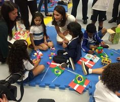 Princess Mary visited the Child Development Center in Rio