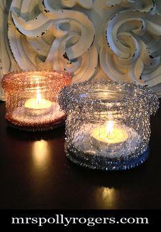 DIY Texture Candle Votive