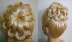 Свадебная вечерняя причёска на выпускной.Пучок из волос.Prom Braid Hairs...