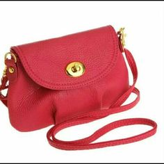Messenger cross body bag. Faux leather shoulder bag in red with gold hard ware.(NEW) no tag No Trades. No Holds. No PayPal. Bags Crossbody Bags