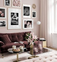Gallery Wall Inspiration - Shop your Gallery Wall Home Room Design, Living Room Designs, Living Room Decor, Bedroom Decor, Elegant Home Decor, Elegant Homes, Photo Wall Decor, Cozy Living, Living Area