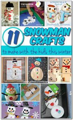 11 snowman crafts to make this winter - Gift of Curiosity