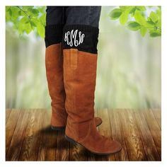 Monogram Knitted Boot Cuffs - Black - Yes, everyone wears boots in the fall but does everyone kick theirs up a notch with a monogram cuff? We didn't think so. Stand out from the pack!