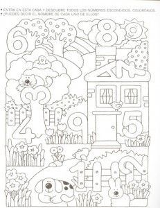 number hunt worksheet for kids (2) | Crafts and Worksheets for Preschool,Toddler and Kindergarten