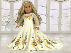 American Girl Doll Clothes by Rocio Cinderella Movie Wedding Dress for American Girl and 18 Dolls. – American Girl Doll Clothes by Rocio American Girl Outfits, American Girl Doll Costumes, American Doll Clothes, Ag Doll Clothes, Doll Clothes Patterns, Doll Patterns, All American Girl Dolls, Dress Patterns, Lounge Outfit